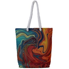 Creativity Abstract Art Full Print Rope Handle Tote (small)