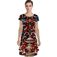 Decoration Art Pattern Ornate Cap Sleeve Nightdress