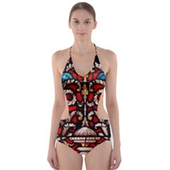 Decoration Art Pattern Ornate Cut-out One Piece Swimsuit by Nexatart