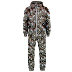 Droplets Pane Drops Of Water Hooded Jumpsuit (men)