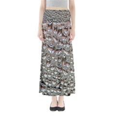 Droplets Pane Drops Of Water Full Length Maxi Skirt