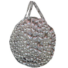 Droplets Pane Drops Of Water Giant Round Zipper Tote