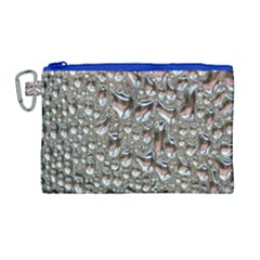Droplets Pane Drops Of Water Canvas Cosmetic Bag (large) by Nexatart