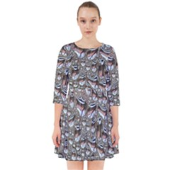 Droplets Pane Drops Of Water Smock Dress
