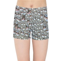 Droplets Pane Drops Of Water Kids Sports Shorts