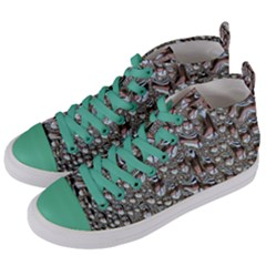 Droplets Pane Drops Of Water Women s Mid Top Canvas Sneakers by Nexatart