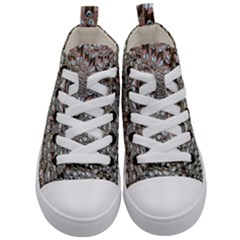 Droplets Pane Drops Of Water Kid s Mid Top Canvas Sneakers