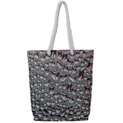 Droplets Pane Drops Of Water Full Print Rope Handle Tote (small)