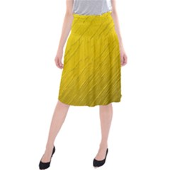 Golden Texture Rough Canvas Golden Midi Beach Skirt