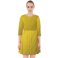 Golden Texture Rough Canvas Golden Smock Dress