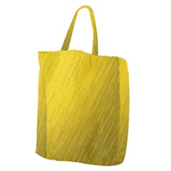 Golden Texture Rough Canvas Golden Giant Grocery Zipper Tote