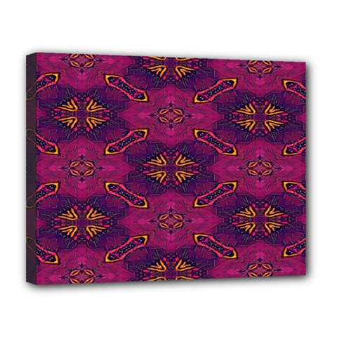 Pattern Decoration Art Abstract Canvas 14  X 11  by Nexatart