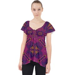 Pattern Decoration Art Abstract Lace Front Dolly Top