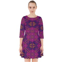 Pattern Decoration Art Abstract Smock Dress