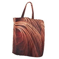 Abstract Fractal Digital Art Giant Grocery Zipper Tote