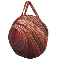 Abstract Fractal Digital Art Giant Round Zipper Tote