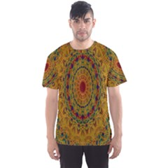 India Mystic Background Ornamental Men s Sports Mesh Tee
