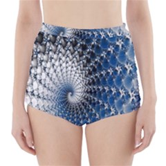 Mandelbrot Fractal Abstract Ice High-waisted Bikini Bottoms by Nexatart