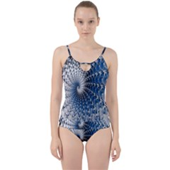 Mandelbrot Fractal Abstract Ice Cut Out Top Tankini Set