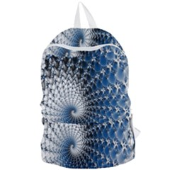 Mandelbrot Fractal Abstract Ice Foldable Lightweight Backpack by Nexatart