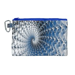 Mandelbrot Fractal Abstract Ice Canvas Cosmetic Bag (large)
