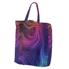 Abstract Pattern Art Wallpaper Giant Grocery Zipper Tote