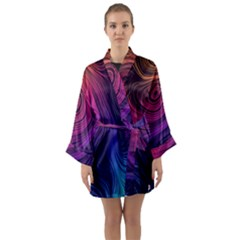 Abstract Pattern Art Wallpaper Long Sleeve Kimono Robe