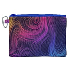 Abstract Pattern Art Wallpaper Canvas Cosmetic Bag (xl)