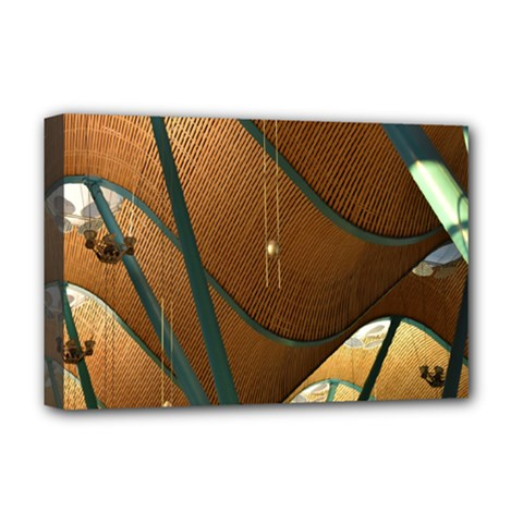 Airport Pattern Shape Abstract Deluxe Canvas 18  X 12