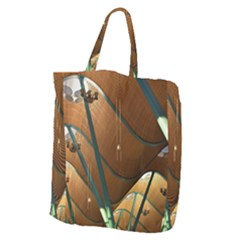 Airport Pattern Shape Abstract Giant Grocery Zipper Tote