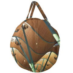 Airport Pattern Shape Abstract Giant Round Zipper Tote