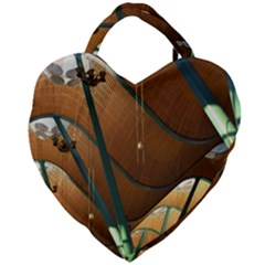 Airport Pattern Shape Abstract Giant Heart Shaped Tote