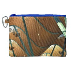 Airport Pattern Shape Abstract Canvas Cosmetic Bag (xl)