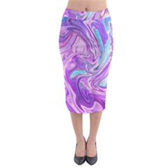 Abstract Art Texture Form Pattern Midi Pencil Skirt