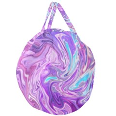 Abstract Art Texture Form Pattern Giant Round Zipper Tote