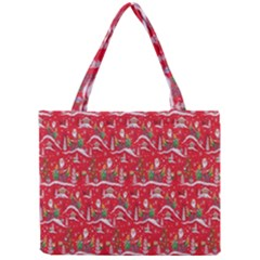 Red Background Christmas Mini Tote Bag