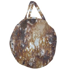 Rusty Texture Pattern Daniel Giant Round Zipper Tote