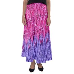 Wool Knitting Stitches Thread Yarn Flared Maxi Skirt