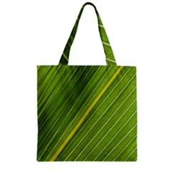 Leaf Plant Nature Pattern Zipper Grocery Tote Bag