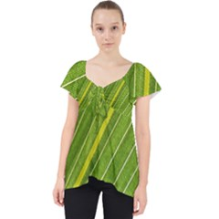 Leaf Plant Nature Pattern Lace Front Dolly Top