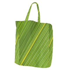 Leaf Plant Nature Pattern Giant Grocery Zipper Tote