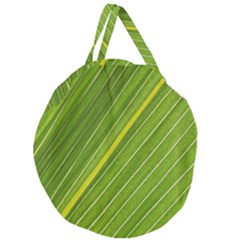 Leaf Plant Nature Pattern Giant Round Zipper Tote
