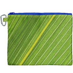 Leaf Plant Nature Pattern Canvas Cosmetic Bag (xxxl)
