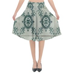 Jugendstil Flared Midi Skirt