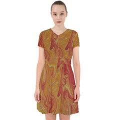 Texture Pattern Abstract Art Adorable In Chiffon Dress