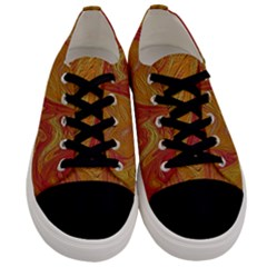 Texture Pattern Abstract Art Men s Low Top Canvas Sneakers