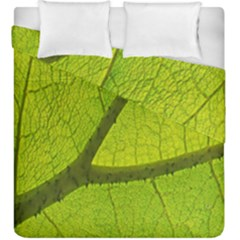 Green Leaf Plant Nature Structure Duvet Cover Double Side (king Size)