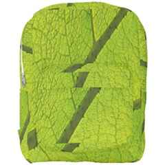 Green Leaf Plant Nature Structure Full Print Backpack by Nexatart