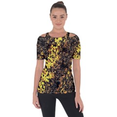 The Background Wallpaper Gold Short Sleeve Top