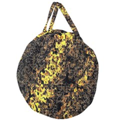 The Background Wallpaper Gold Giant Round Zipper Tote